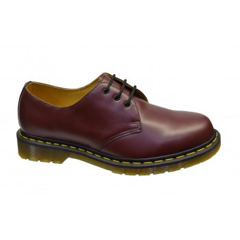 Dr Martens 1461 Cherry Red (11838600) with Yellow Stitching 3 Eyelet (B22) Mens Shoes