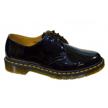 Dr Martens 1461 Low Patent Lamper Black (B9) Womens Shoes
