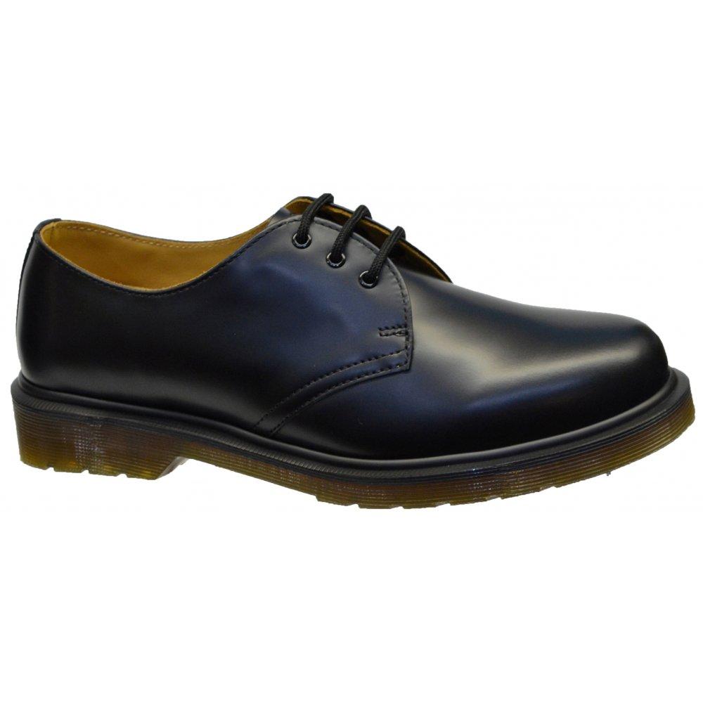 dr martens dr martens 1461 pw 3 hole eyelet black f5 mens shoes dr martens from pure brands. Black Bedroom Furniture Sets. Home Design Ideas