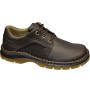 Dr Martens 8B75 Zack 3 Eye Dark Brown (N82) Mens Gibson Shoes
