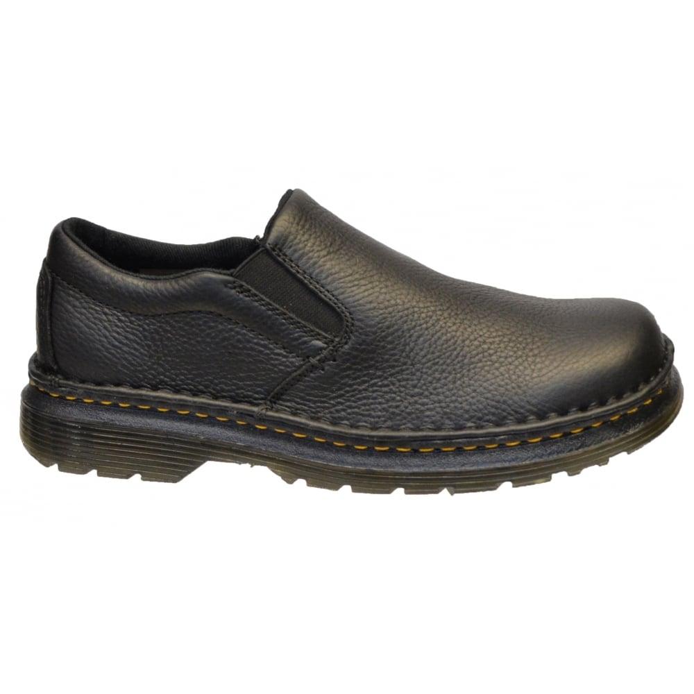 ... Dr Martens Boyle Black Grizzly (K8) 21096001 Mens Slip on Shoes ...