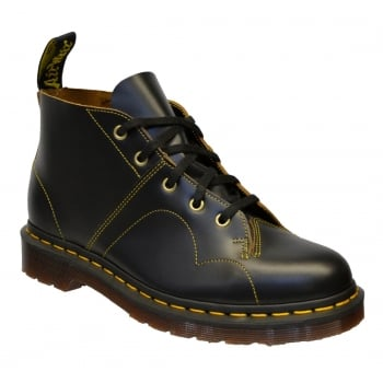 Dr Martens Church Leather Black (N24) 16054001 Unisex Monkey Boots