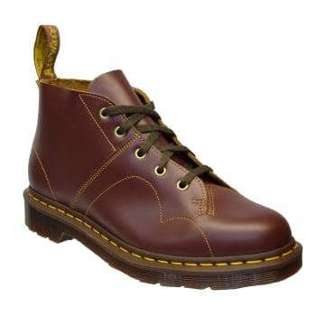 Dr Martens Church Leather Oxblood (N9) 16054601 Unisex Monkey Boots