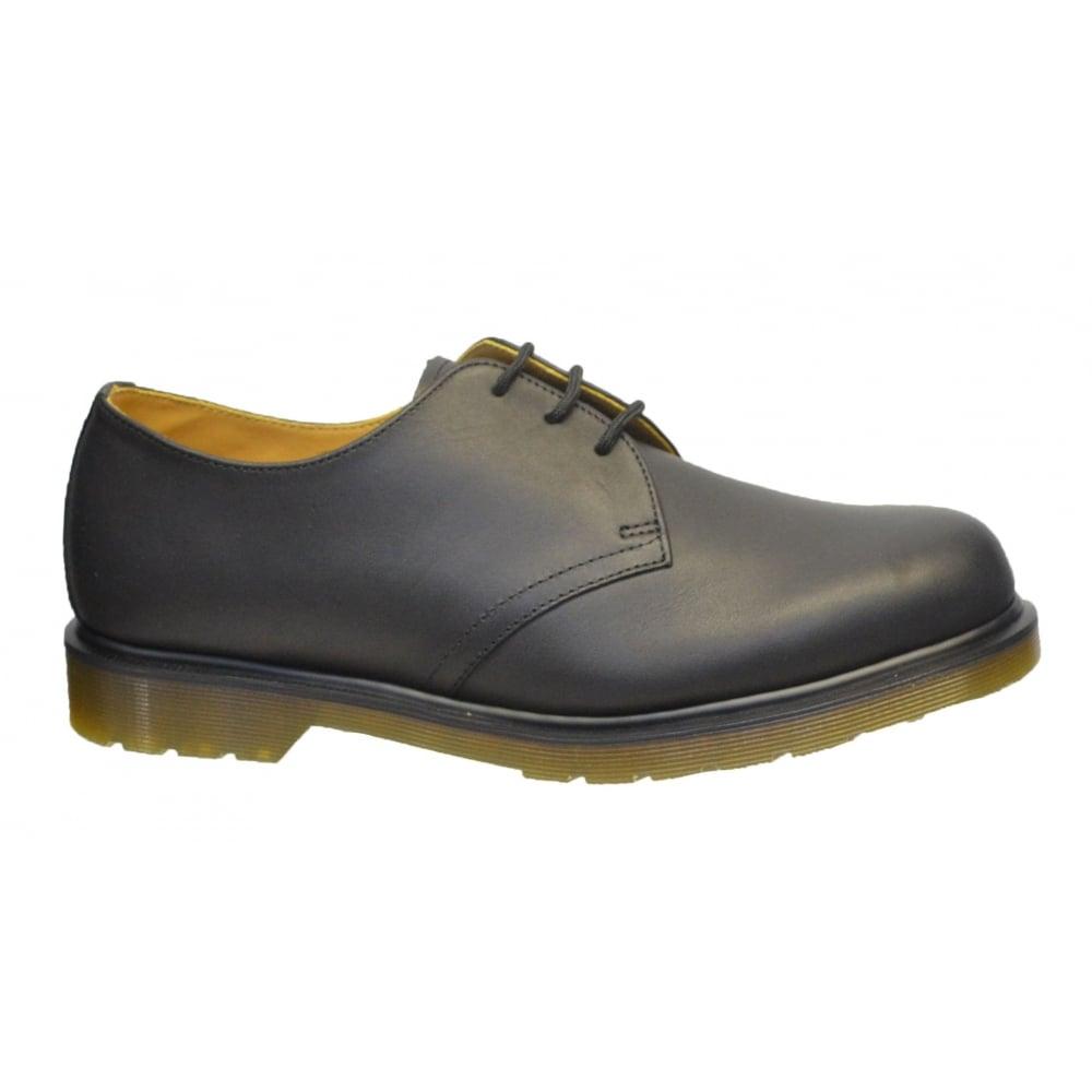 dr martens dr martens 1461 pw 3 hole eyelet greasy black n27 11839001 mens shoes dr martens. Black Bedroom Furniture Sets. Home Design Ideas