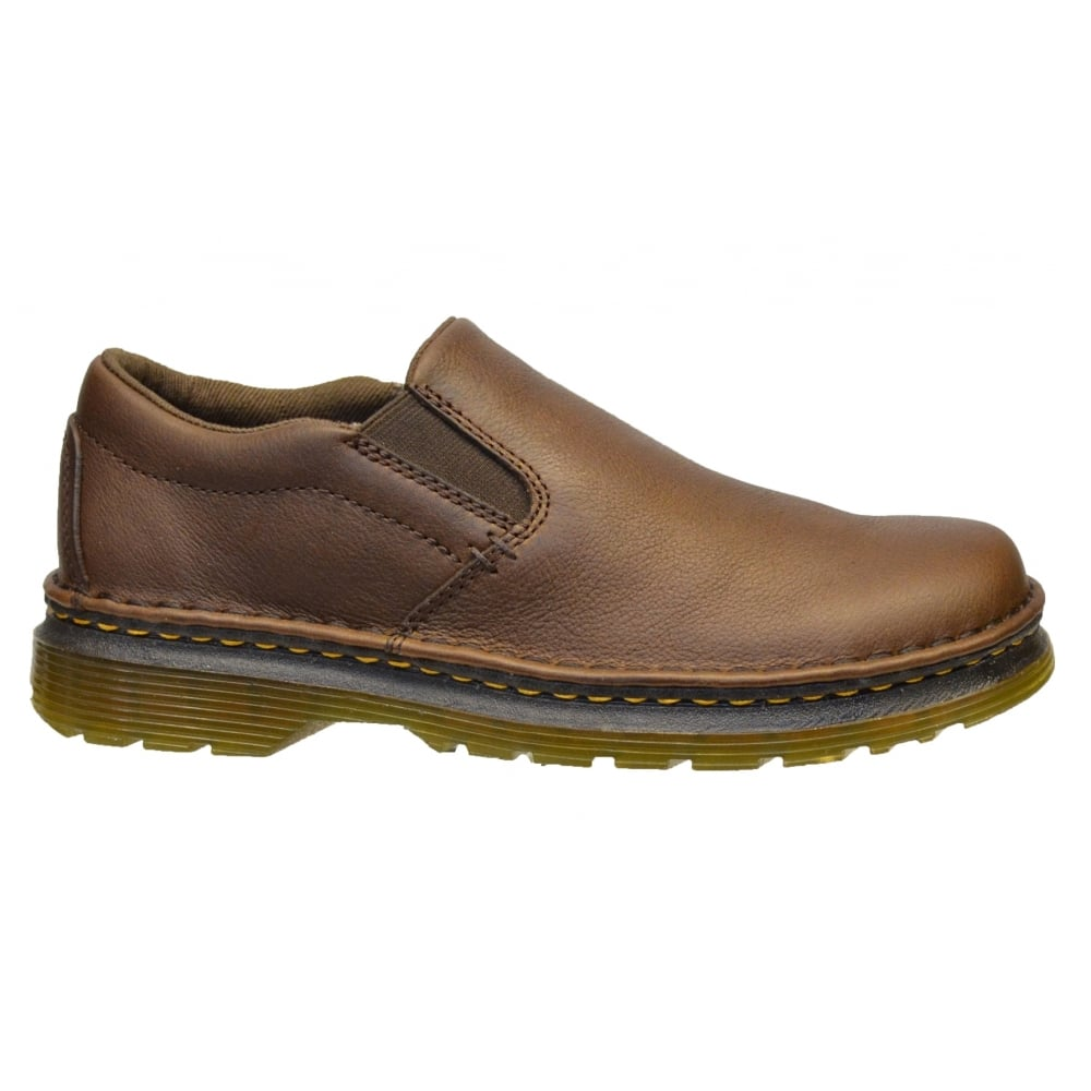 ... Dr Martens Boyle Dark Brown Grizzly (A2) 20662201 Mens Slip on Shoes ...