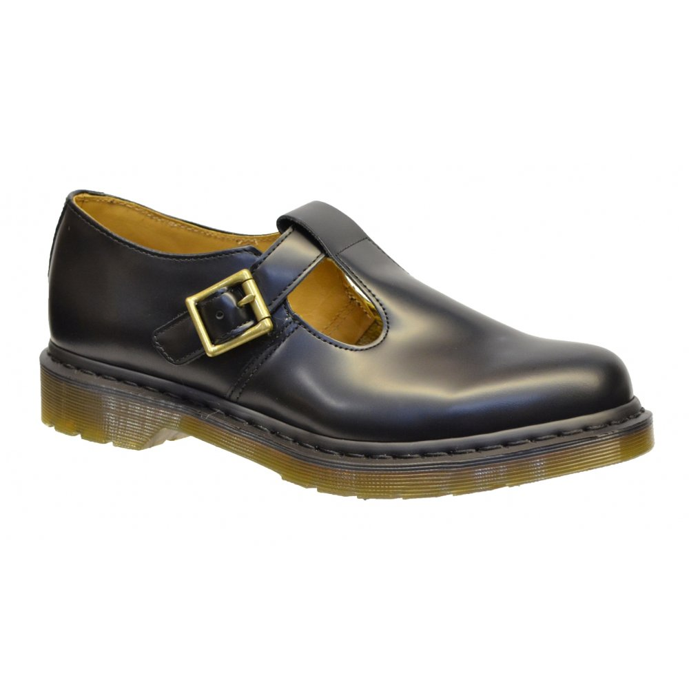 dr martens dr martens polley 14852002 black e1 womens shoes dr martens from pure brands uk uk. Black Bedroom Furniture Sets. Home Design Ideas