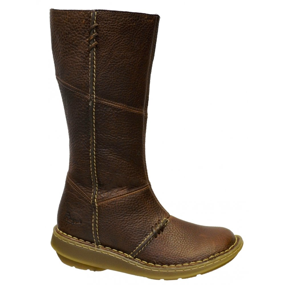 dr martens dr martens wedge calf brown osf boots