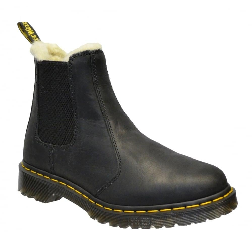 dr martens dr martens leonore faux fur lined chelsea black z4 21045001 ladies boots dr. Black Bedroom Furniture Sets. Home Design Ideas