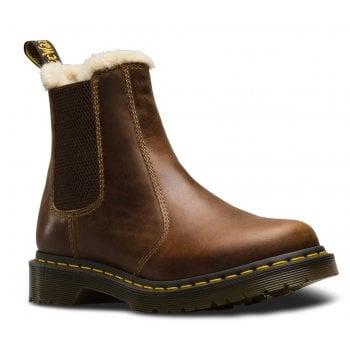 Dr Martens Leonore Faux Fur Lined Chelsea Butterscotch (K9) 23898243 Ladies Boots