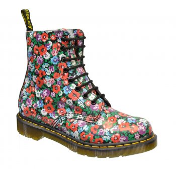 Dr Martens Pascal Black Wildpoppy (SC-D1) 13512004 Womens Boots