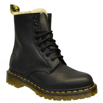Dr Martens Serena Fur Lined Leather Black (Z161) 21797001 Womens Boots