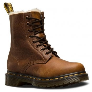 Dr Martens Serena Fur Lined Leather Butterscotch (B14) 23912243 Womens Boots