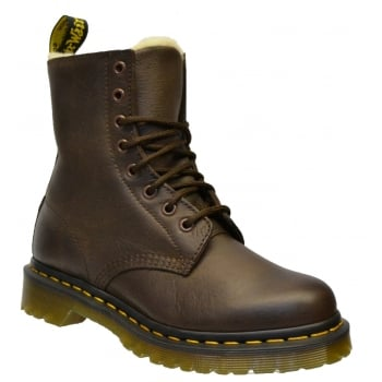 Dr Martens Serena Fur Lined Leather Dark Brown (Z6) 21797201 Womens Boots
