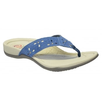 Earth Spirit Aurora Suede Cobalt Blue (F5) 24077 Ladies Sandals