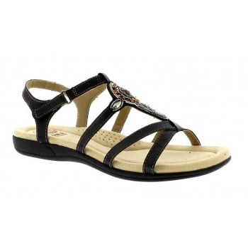 Earth Spirit Cape Coral - Black (N79) 28124 Ladies Sandals