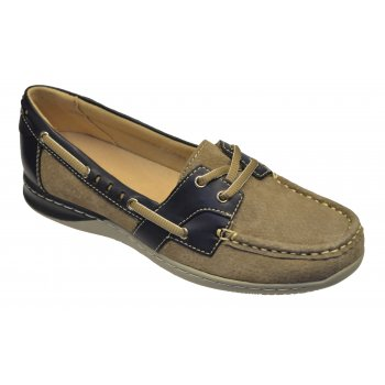 Earth Spirit Chicago Sedona Brown (N2) 19603 Ladies Boat Shoes