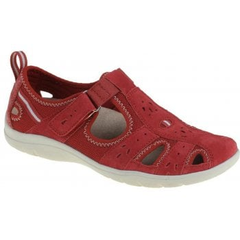 Earth Spirit Cleveland Nubuck Cardinal Red (N31) 30200 Ladies Casual Shoes