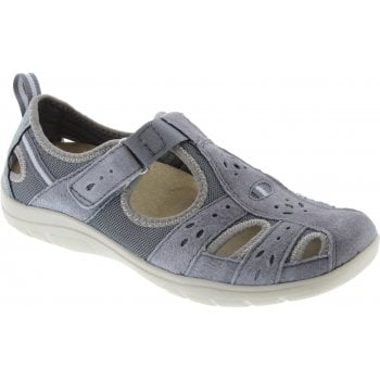 Earth Spirit Cleveland Nubuck Frost Grey (N16) 30202 Ladies Casual Shoes