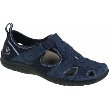 Earth Spirit Cleveland Nubuck Navy Blue (N45) 30201 Ladies Casual Shoes