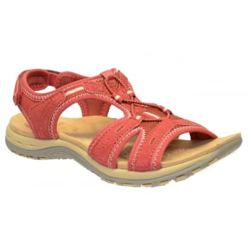 Earth Spirit Columbia Suede Cherry Red (B13) 21050 Ladies Sandals