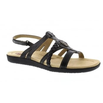 Earth Spirit Dallas Leather Black (N89) 28010 Ladies Sandals