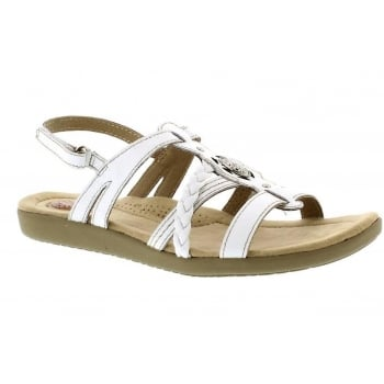 Earth Spirit Dallas Leather White (E4) 28012 Ladies Sandals