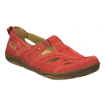 Earth Spirit Long Beach 2 Suede Cherry Red (SC-D2) 21016 Ladies Sandals