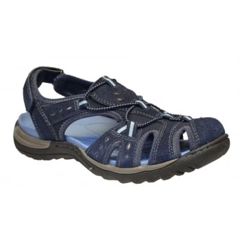 Earth Spirit Earth Spirit Texas Nubuck Blue (F8) 21055 Ladies Sandals