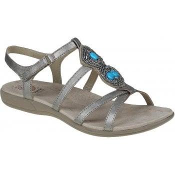 Earth Spirit Ellensburg Leather Platinum (K7) 30272 Ladies Sandals