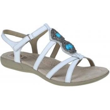 Earth Spirit Ellensburg Leather White (SCD3) 30271 Ladies Sandals