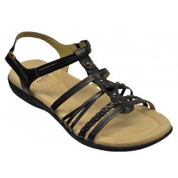 Earth Spirit Freemont Leather Black (N200) 19581 Ladies Sandals
