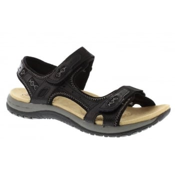 Earth Spirit Frisco Leather Black (F8) 28089 Ladies Sandals