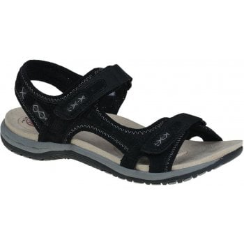 Earth Spirit Frisco Nubuck Black (N200) 30235 Ladies Sandals