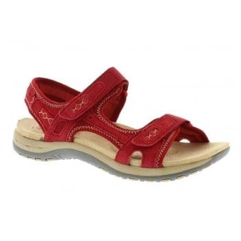 Earth Spirit Frisco Nubuck Cardinal Red (N17) 28090 Ladies Sandals