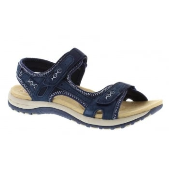 Earth Spirit Frisco Nubuck Navy Blue (N30) 28093 Ladies Sandals