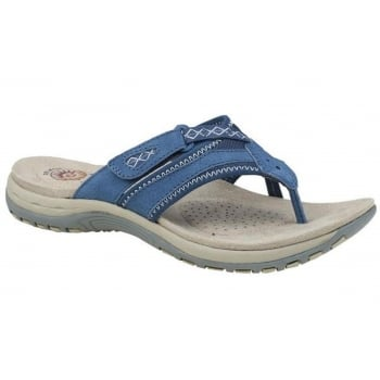 Earth Spirit Juliet Nubuck Cobalt Blue (F7) 28080 Ladies Sandals