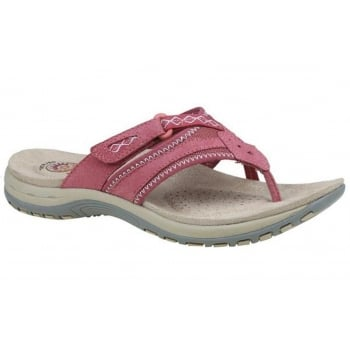 Earth Spirit Juliet Nubuck Pink Rose (N91) 28082 Ladies Sandals
