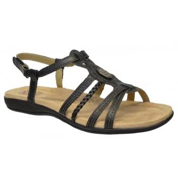 Earth Spirit Killene Leather Black (B9) 24055 Ladies Sandals