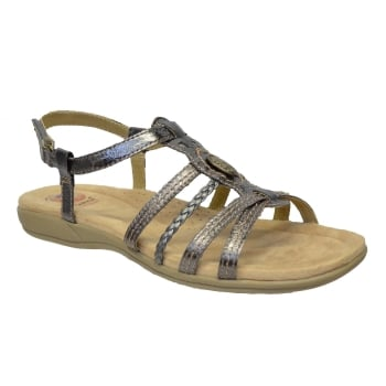 Earth Spirit Killene Leather Pewter (E6) 24058 Ladies Sandals