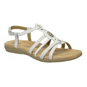 Earth Spirit Killene Leather White (E1) 24056 Ladies Sandals