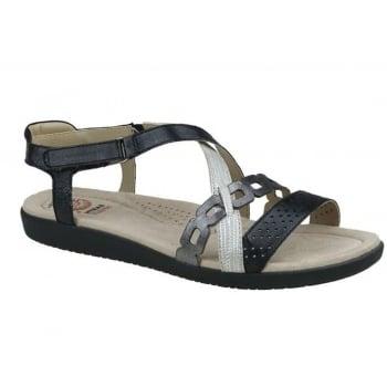 Earth Spirit Louisville Leather Black / Pewter (B7) 28019 Ladies Sandals