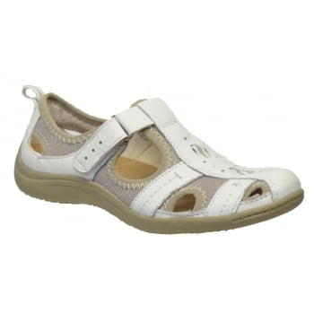 Earth Spirit Madison Leather / Textile White (GD1) 24009 Ladies Sandals