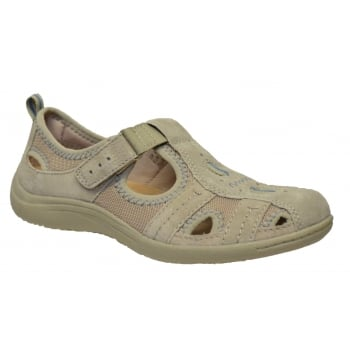 Earth Spirit Madison Nubuck Lt Khaki (N38) 24006 Ladies Sandals