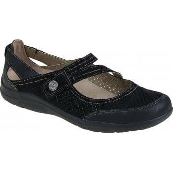 Earth Spirit Maryland Nubuck Black (N27) 30205 Ladies Sandals