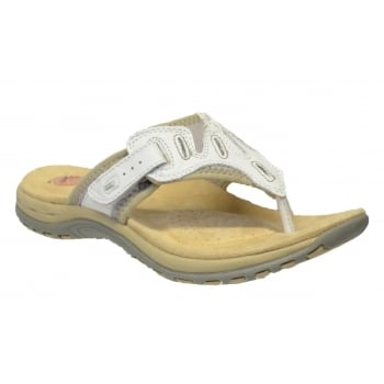 Earth Spirit Palm Bay Leather White (T3B) 24110 Ladies Sandals