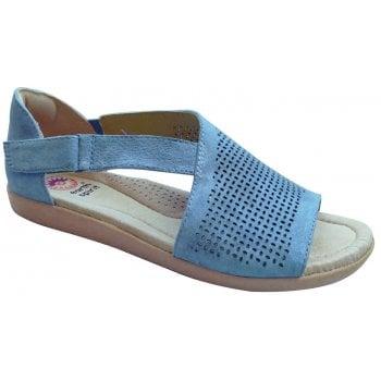 Earth Spirit Redvale Nubuck Moroccan Blue (N15) 30598 Ladies Sandals