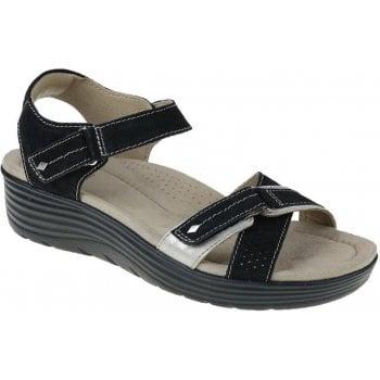 Earth Spirit Swifton Suede Black (N93) 30310 Ladies Wedge Sandals