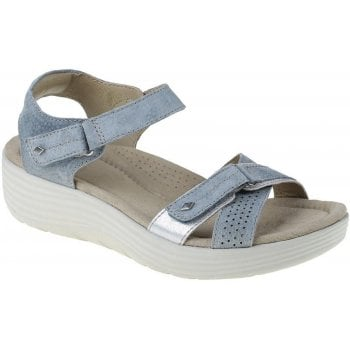 Earth Spirit Swifton Suede Denim Blue (N57) 30313 Ladies Wedge Sandals