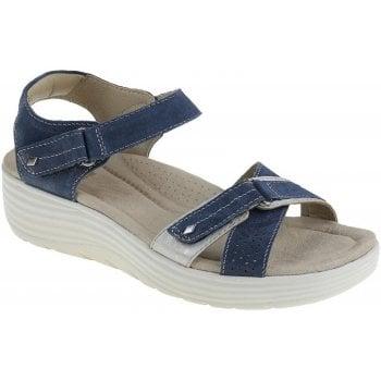 Earth Spirit Swifton Suede Navy Blue (N54) 30311 Ladies Wedge Sandals