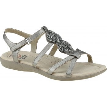 Earth Spirit Vancouver Leather Platinum (F6) 30594 Ladies Sandals